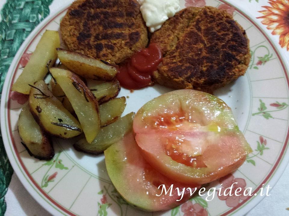 burger di fagioli e lenticchie cotti