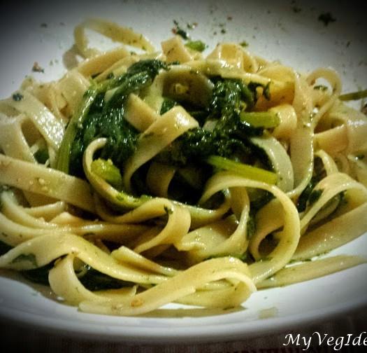 fettucce acqua e farina con broccoletti sicilianifirma