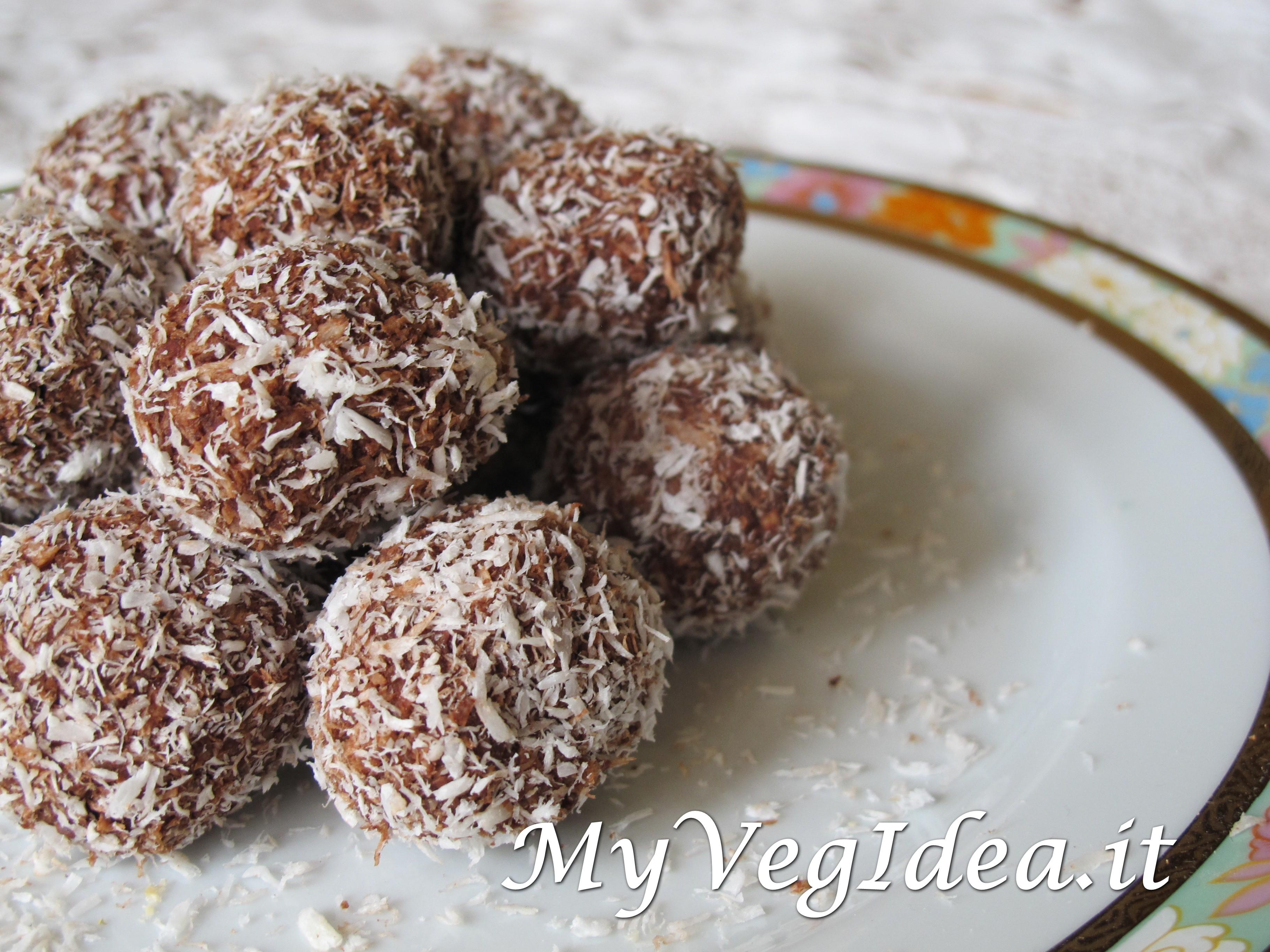palle di okara e cocco