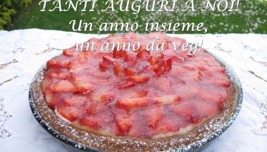 """TORTA DI FRAGOLE del nostro """"compleVEGanno"""""""