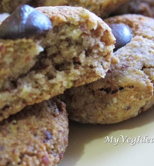 biscotti con okara di soia mandorle mela