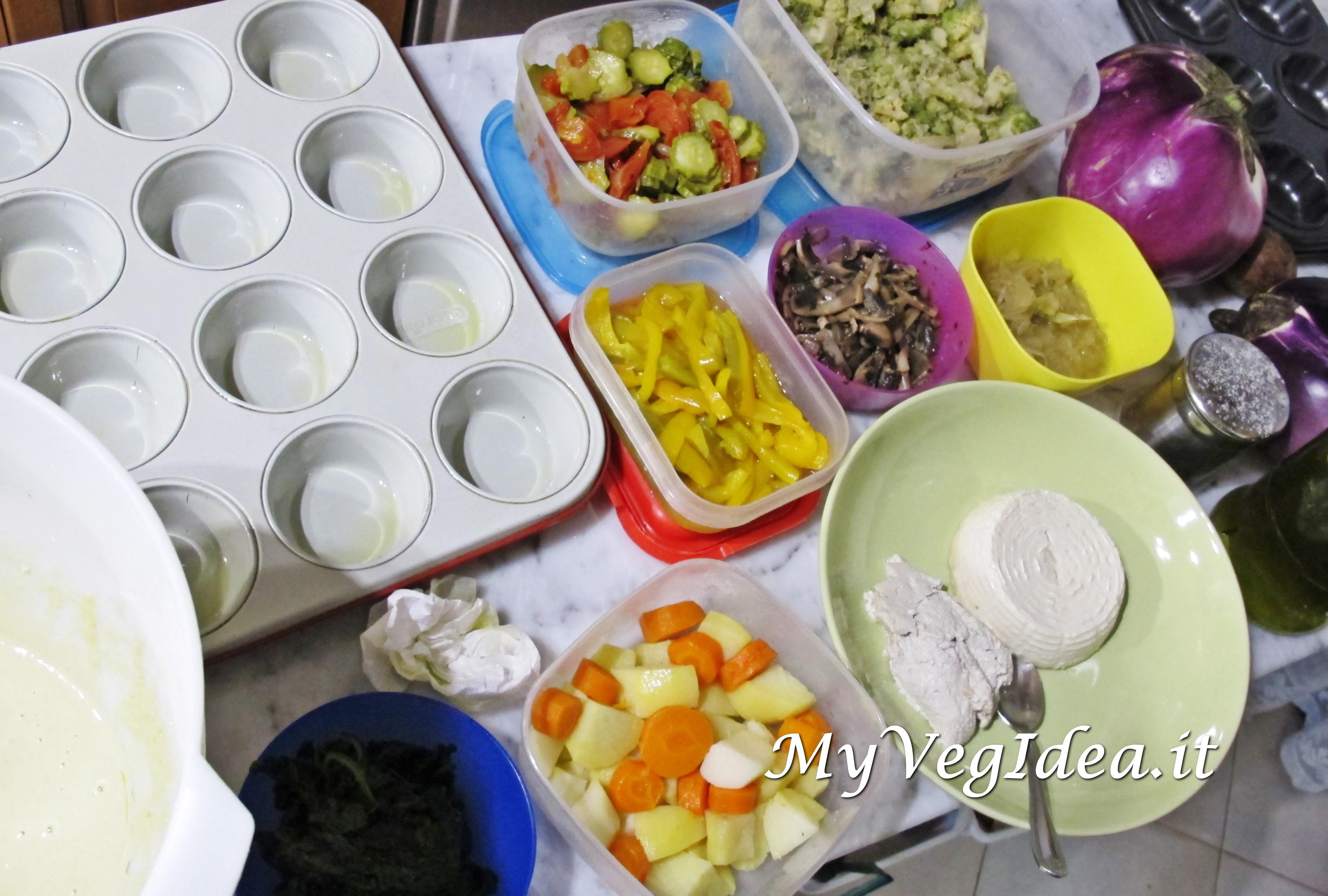 muffin salati g free preparazione