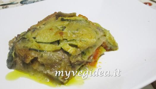 LASAGNA FARINA DI LENTICCHIE E SEMOLA con funghi porcini e zucchine