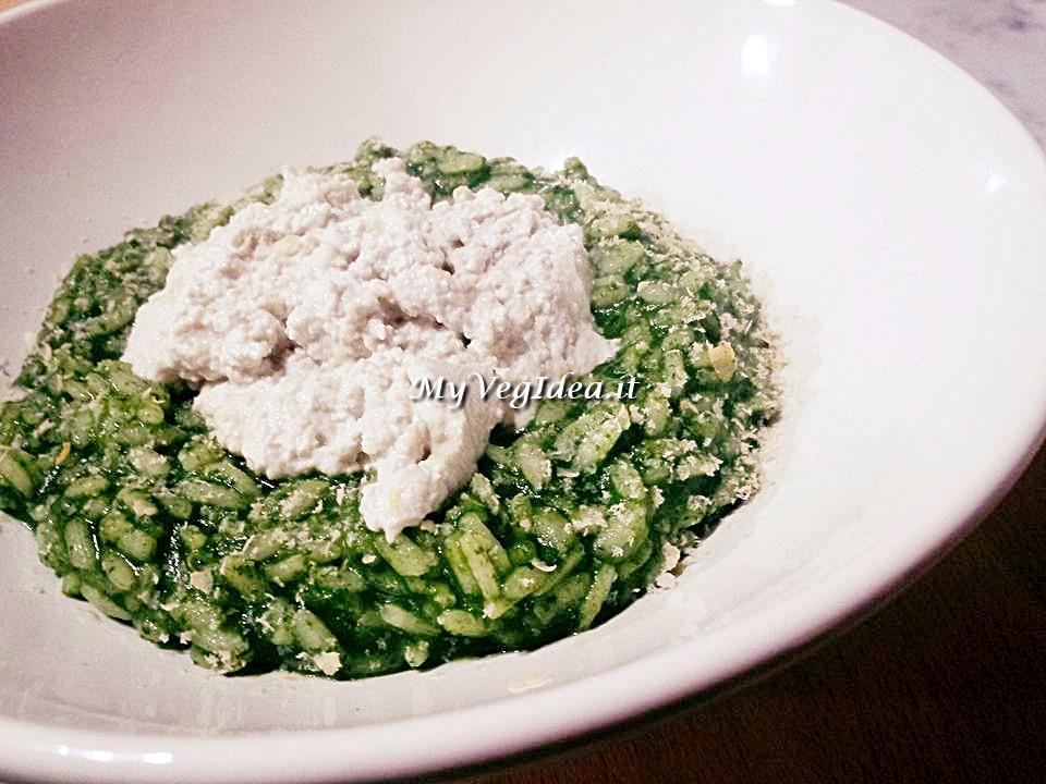 risotto spinaci e ricotta semi di girasole e soia