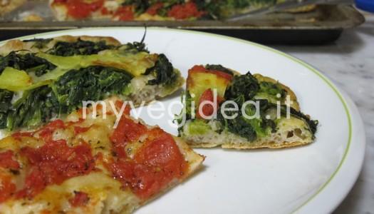 PIZZA DI FAGIOLI e farina con verdure miste
