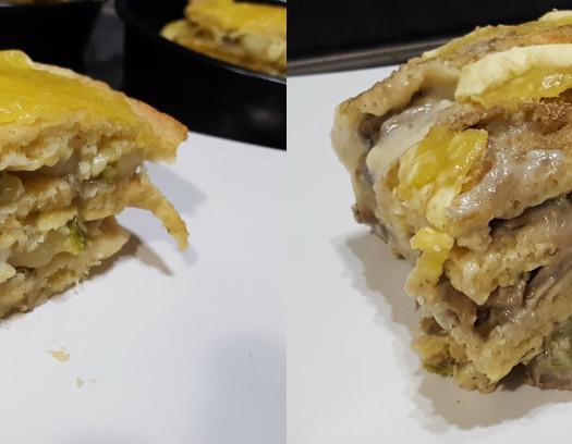 lasagne di pancakes collage