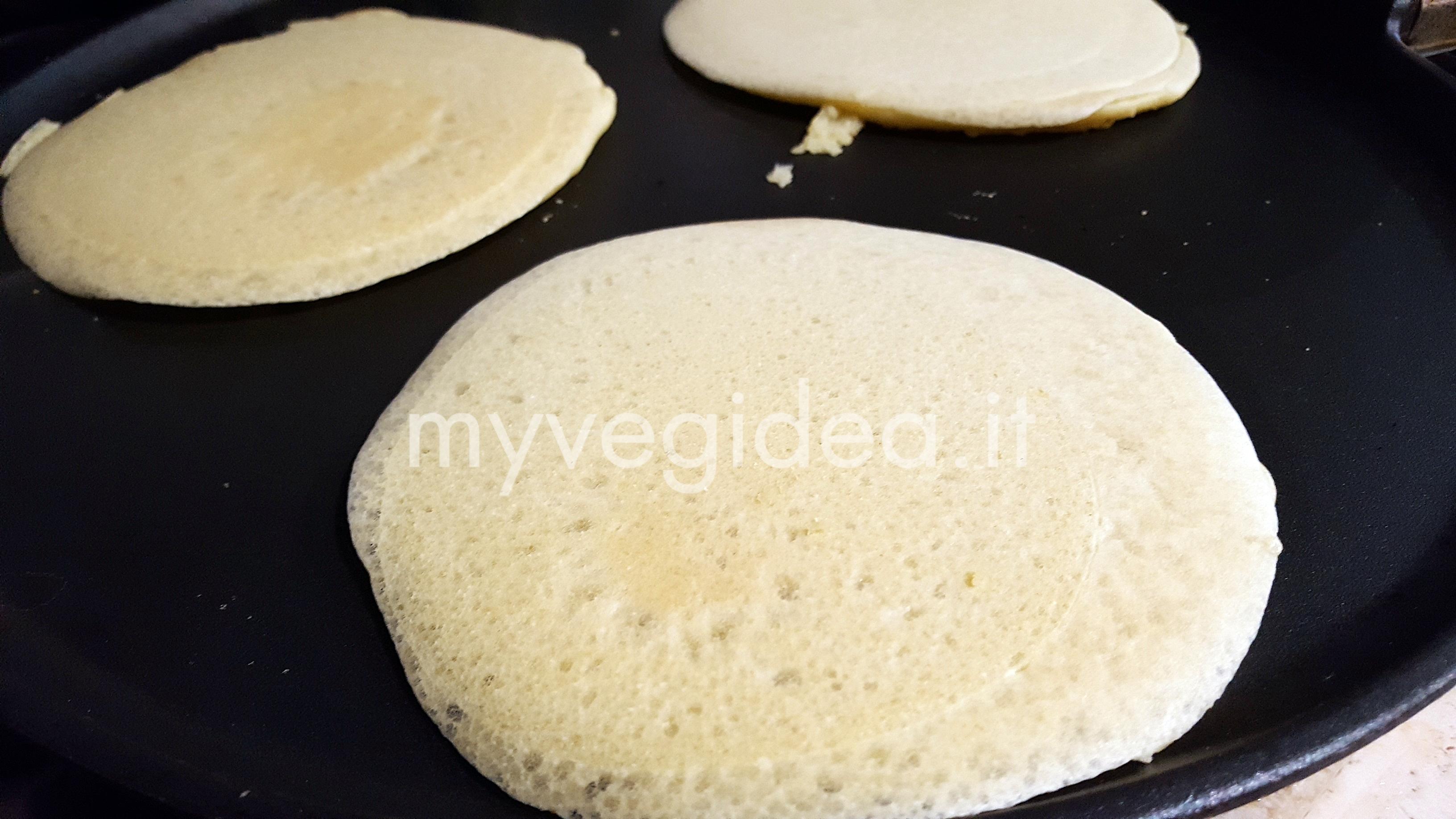 pancakes salati in cottura