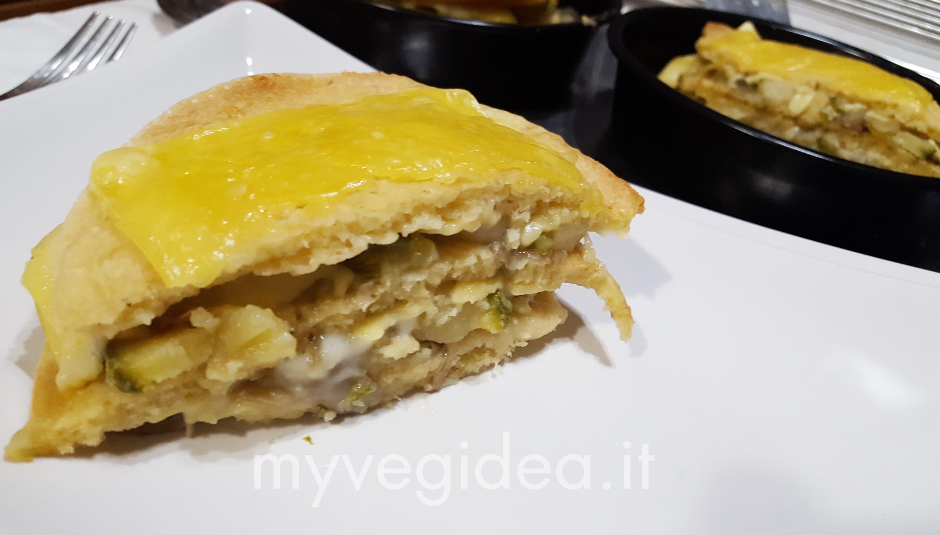 lasagne di pancakes con zucchine