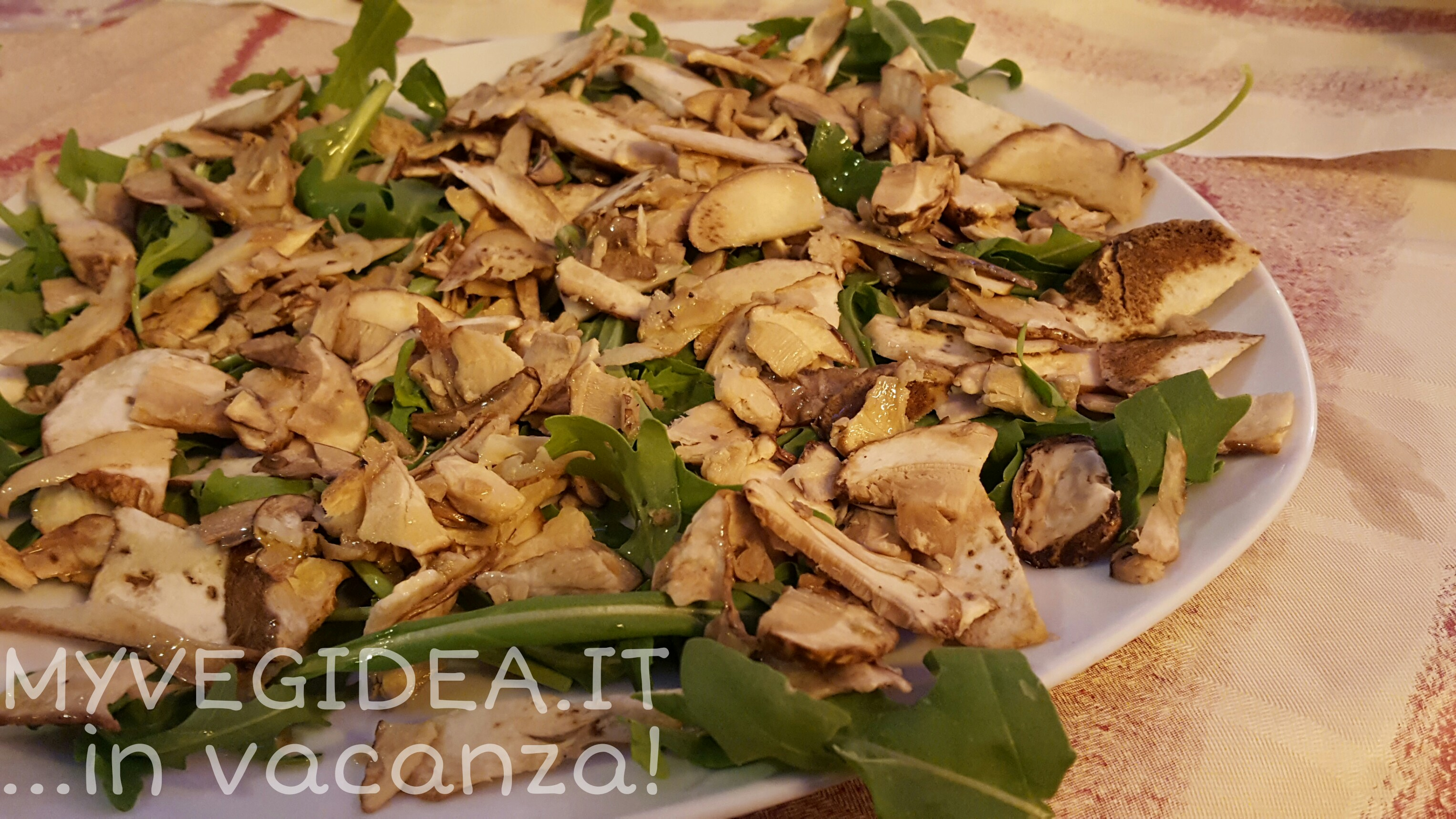insalata porcini e rucola paparil